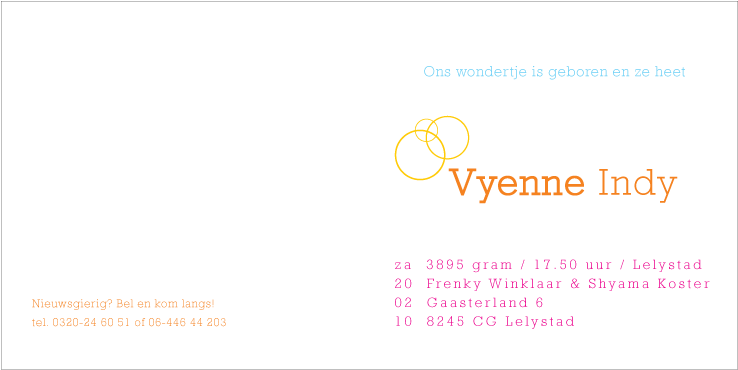 Vyenne: welcome to the world